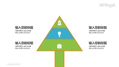 金字塔形状的树PPT图示素材模板下载