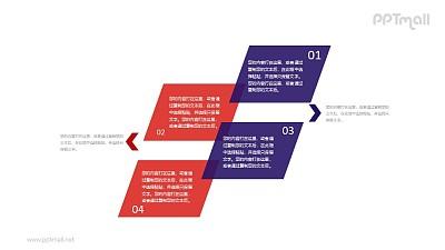 4大部分文字说明PPT素材模板下载