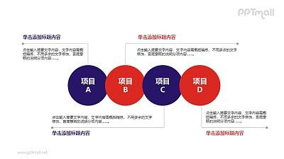 4个项目图示PPT模板下载