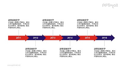 年份时间轴PPT素材模板下载