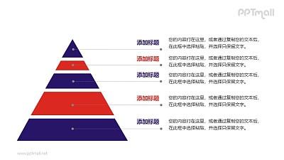 金字塔PPT素材模板下载