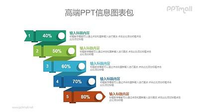 带百分比数据的目录要点PPT图示素材下载