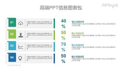 带数字的PPT目录图示素材下载