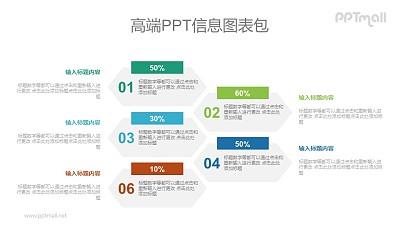 蜂巢状数字目录PPT图示素材下载