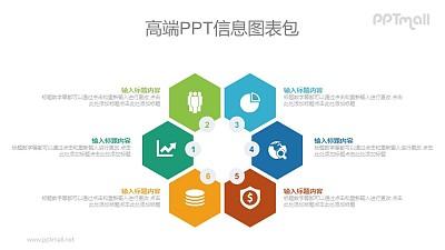 6部分项目要点PPT图示素材下载
