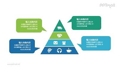 金字塔要点分析PPT图示素材下载