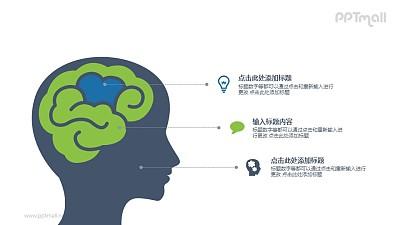 人的大脑分析PPT图示素材下载