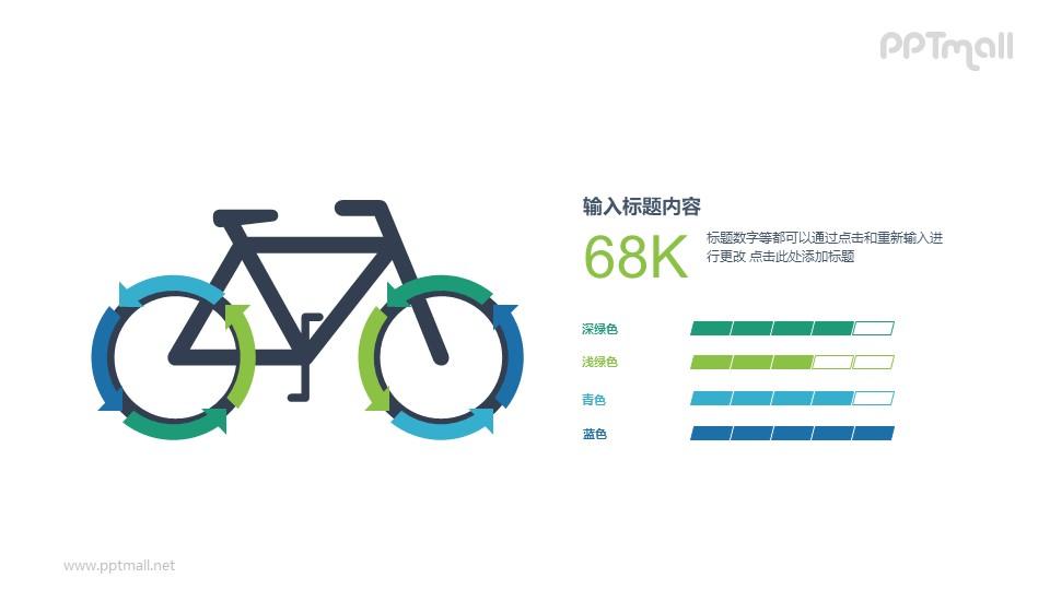 自行车PPT图示素材下载