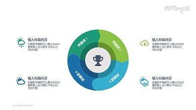 获奖目标PPT图示素材下载