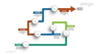 路径图PPT素材下载