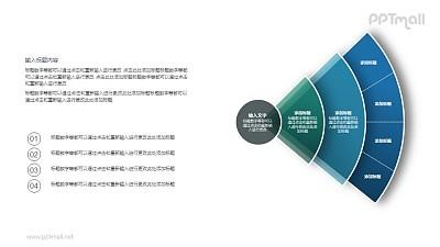 贝壳型层级结构关系PPT图示素材下载