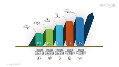 逐级递进的PPT数据图示素材下载