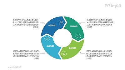 4循环结构PPT逻辑图示素材下载
