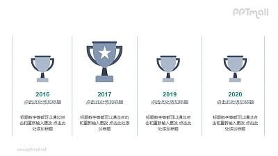 奖杯/排名情况PPT图示素材下载