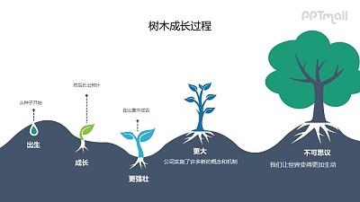 一棵树的生长过程PPT图示素材下载