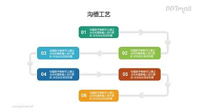 时间轴/多步骤流程图PPT图示素材下载