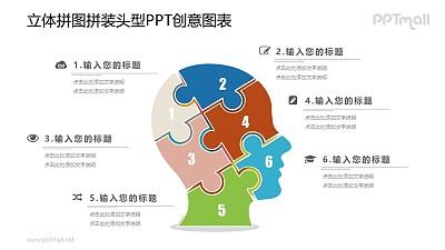 人大脑的组成部分PPT图示素材下载