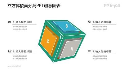 立方体图示PPT素材下载