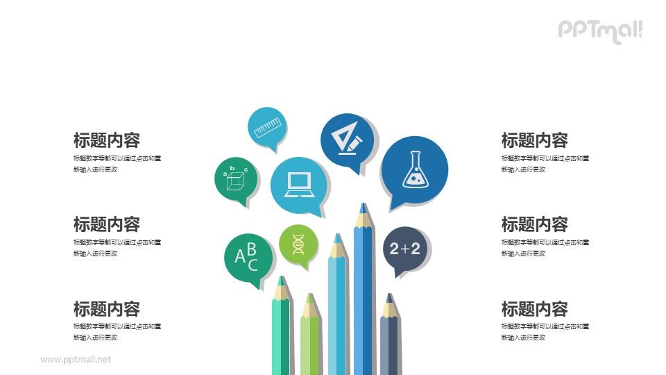 铅笔的使用场景分析PPT素材模板下载