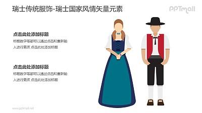 瑞士传统服饰-瑞士国家风情PPT图像素材下载