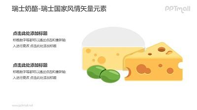 瑞士奶酪-瑞士国家风情PPT图像素材下载