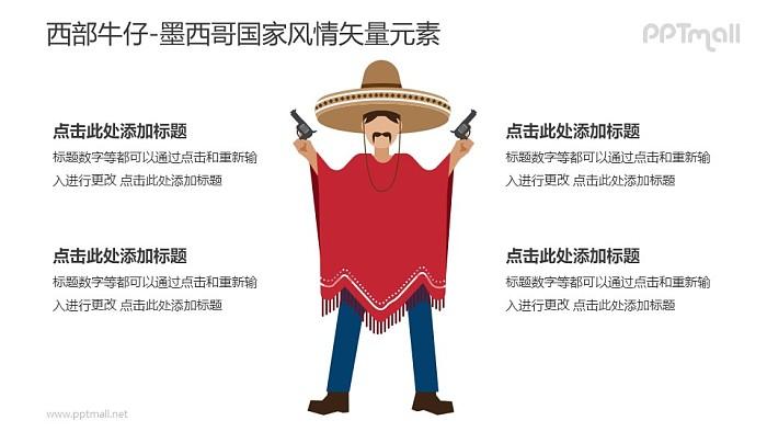 墨西哥牛仔PPT模板下载