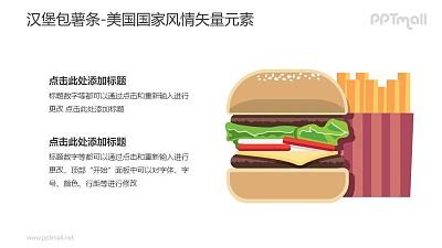 汉堡包薯条套餐-美国国家风情PPT图像素材下载