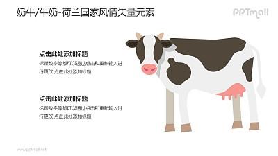 奶牛/牛奶-荷兰国家风情PPT图像素材下载
