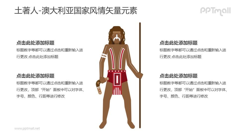 土著人-澳大利亚国家风情PPT图像素材下载