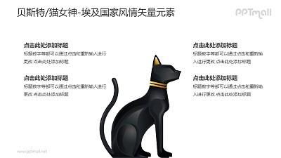 贝斯特/猫女神-埃及国家风情PPT图像素材下载