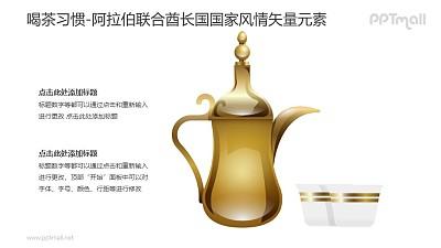 喝茶习惯-阿拉伯联合酋长国国家风情PPT图像素材下载
