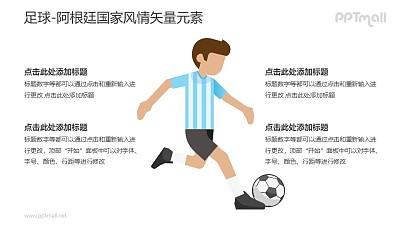 足球-阿根廷国家风情PPT图像素材下载