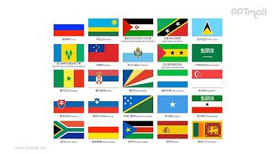 世界各国国旗/国家按字母R-S排序的国旗PPT图片素材集合下载