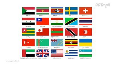 世界各国国旗/国家按字母S-U排序的国旗PPT图片素材集合下载
