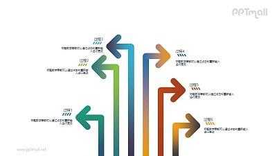 指向不同方向的箭头示意图PPT下载