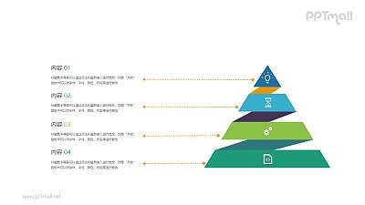 四级金字塔层级结构PPT素材下载