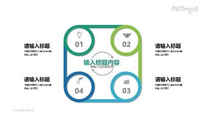 四部分总分关系PPT素材下载