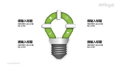 节能灯泡图示PPT素材下载
