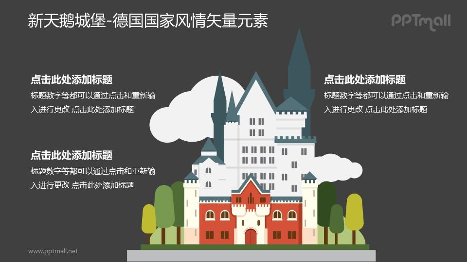 新天鹅城堡-德国国家风情PPT图像素材下载
