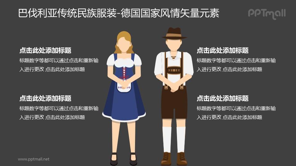巴伐利亚传统民族服饰-德国国家风情PPT图像素材下载
