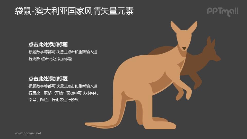 袋鼠-澳大利亚国家风情PPT图像素材下载