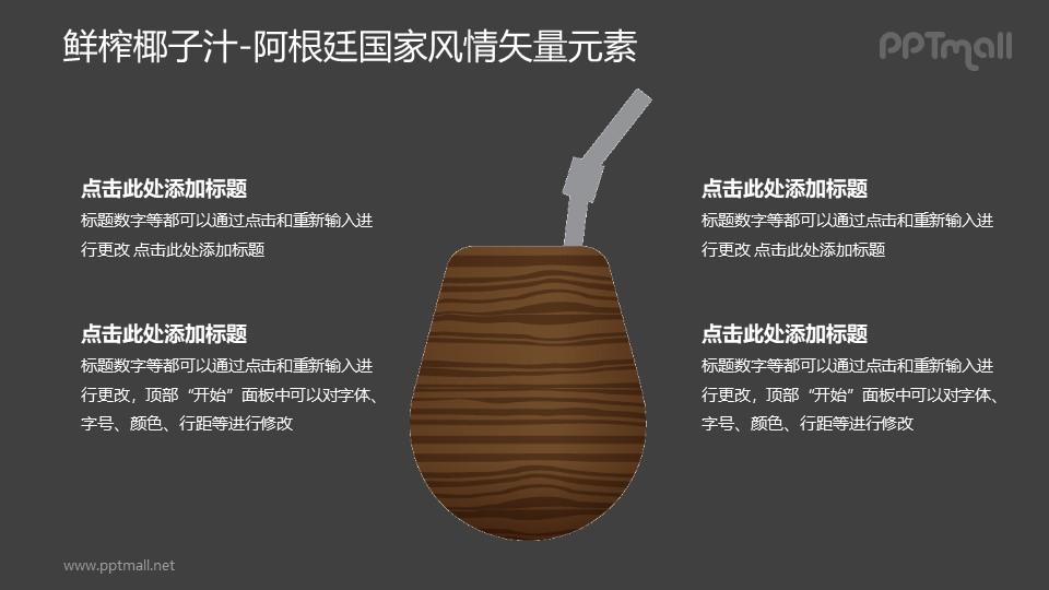 鲜榨椰子汁-阿根廷国家风情PPT图像素材下载