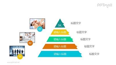 五层金字塔PPT模板素材下载