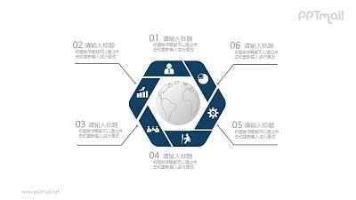 地球在中间的要点列表PPT素材图示下载