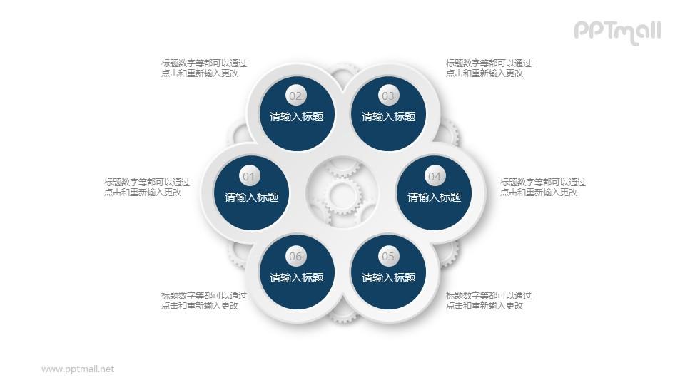 复杂的齿轮机械结构PPT素材图示下载