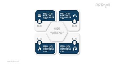 4部分总分关系PPT素材图示下载