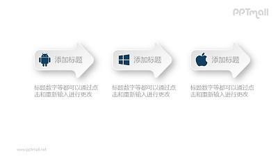 3个箭头递进关系PPT素材图示下载