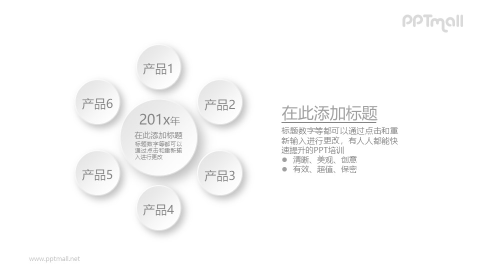 总分关系的产品说明PPT素材图示下载