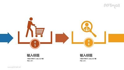 购物2步骤PPT图示下载