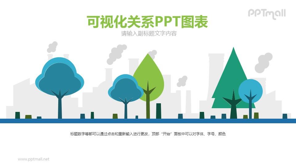 环境污染的PPT模板图示下载